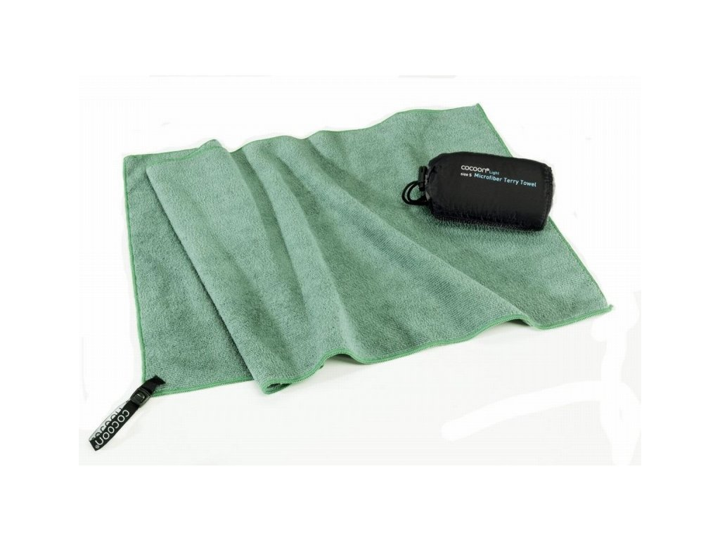 Cocoon lehký cestovní ručník M bamboo green