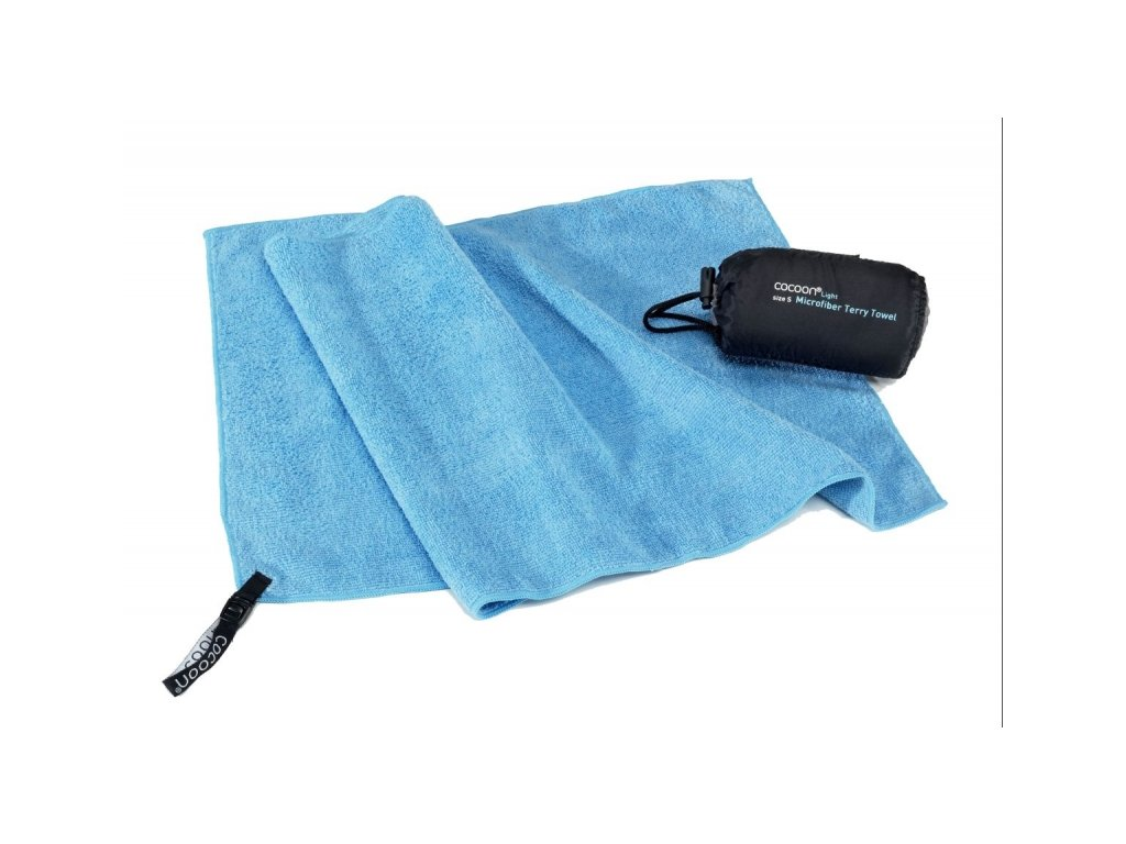 Cocoon lehký cestovní ručník S fjord blue