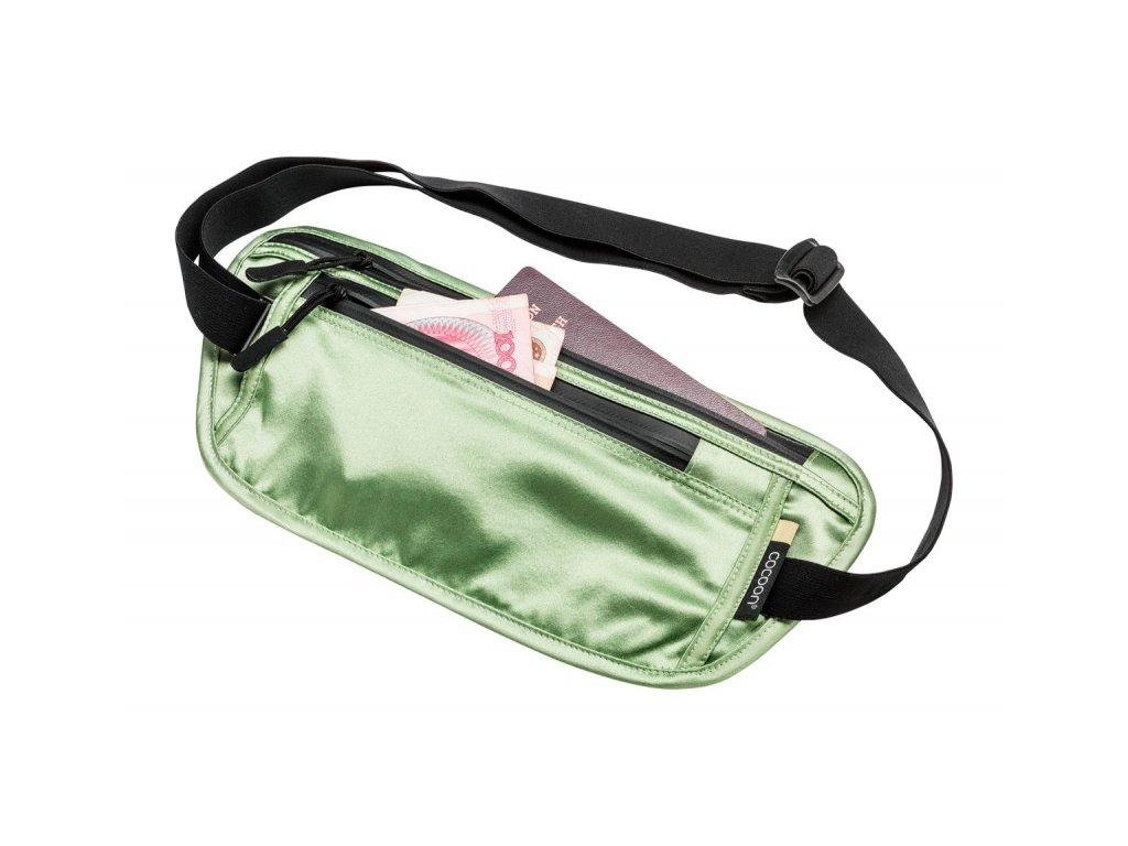 Cocoon skrytá ledvinka Secret Waist Wallet Silk light green
