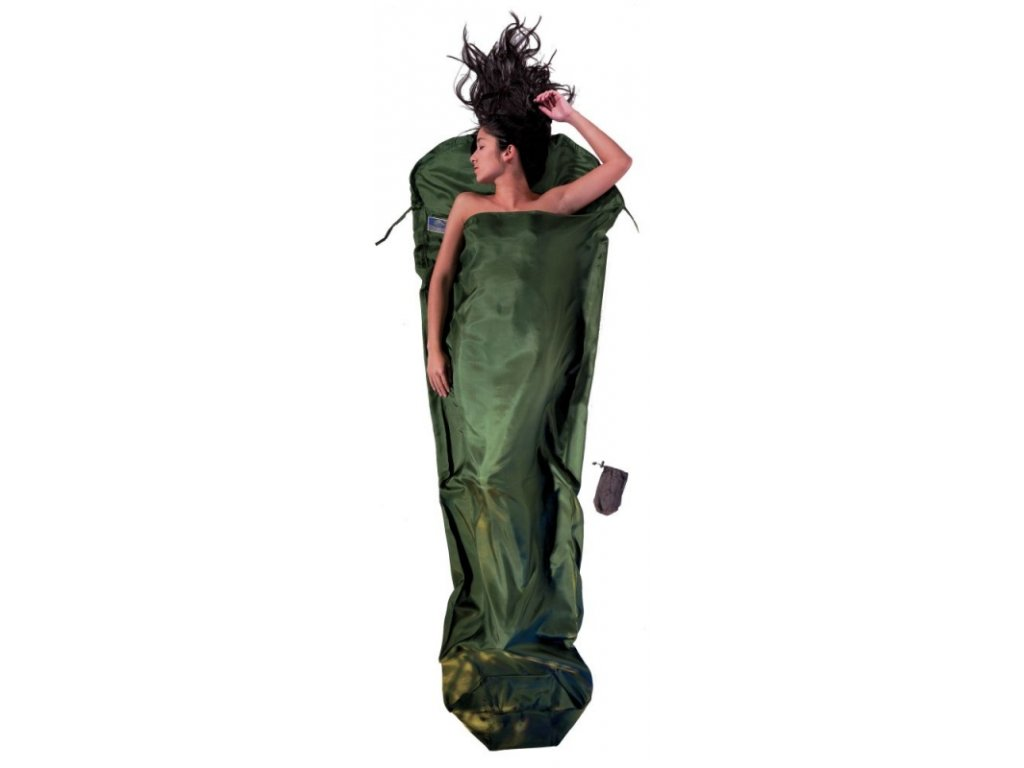 Cocoon spacáková přikrývka mumie dark olive green