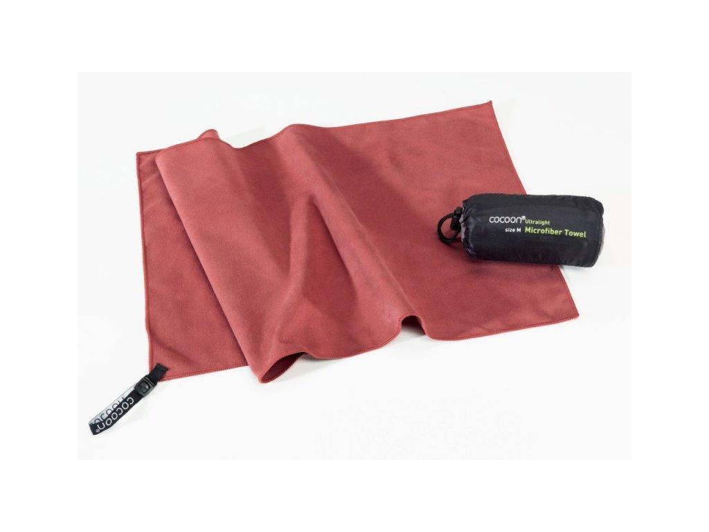 Cocoon ultralehký ručník M marsala red