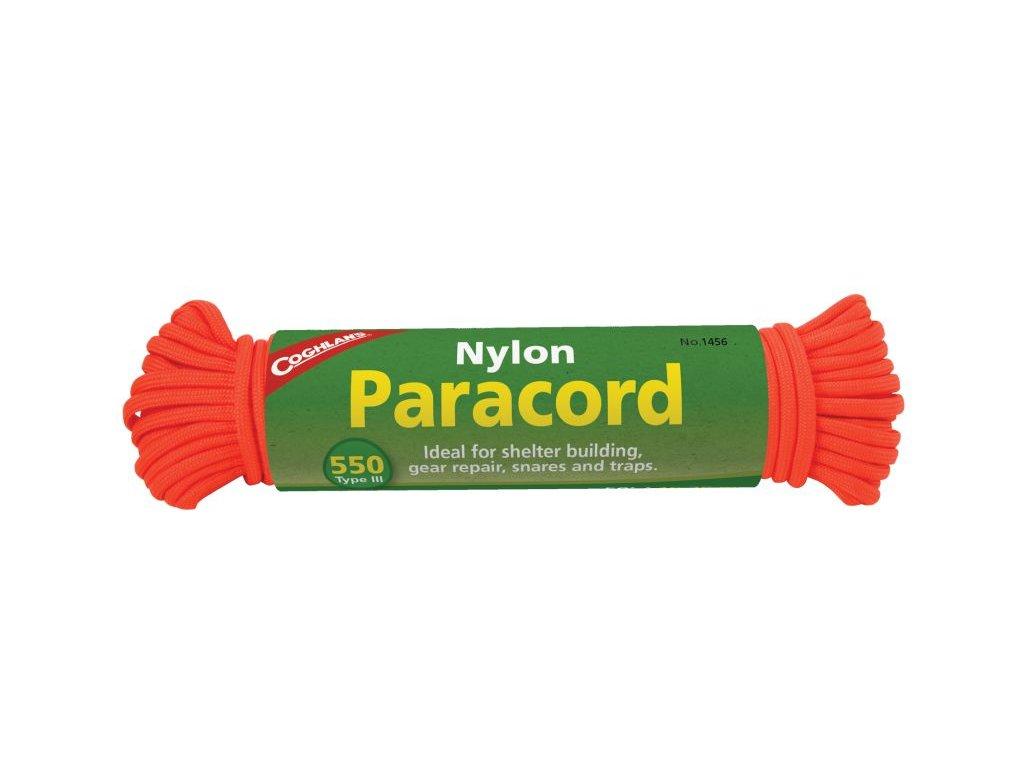 Coghlan´s lano Nylon Paracord 45 kg oranžové