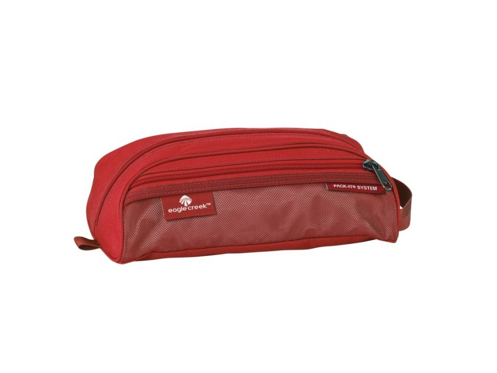 Eagle Creek toaletní taška Pack-It Quick Trip red fire