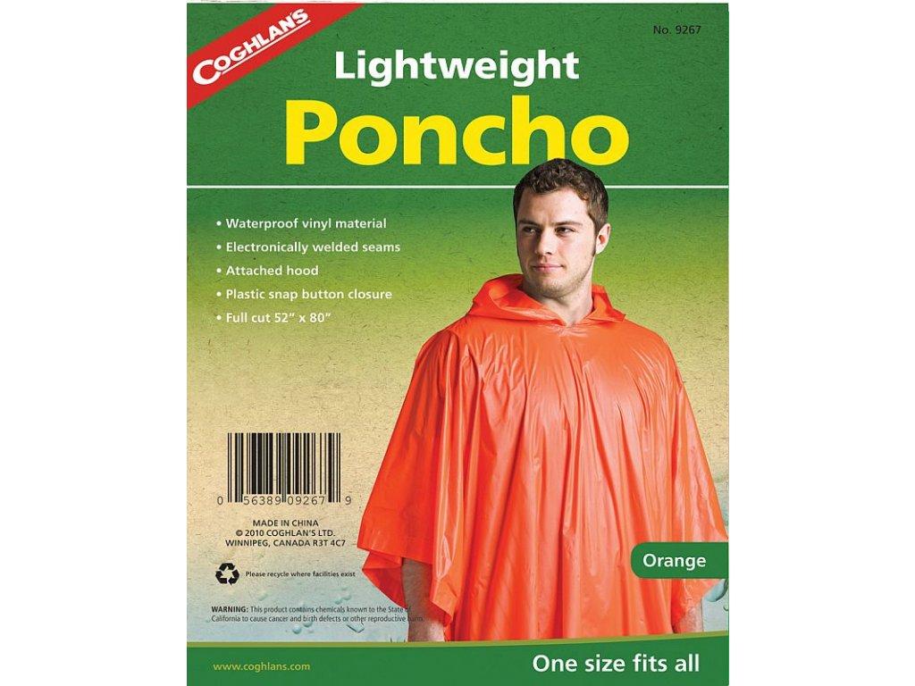 Coghlan´s pončo oranžové Lightweight Poncho