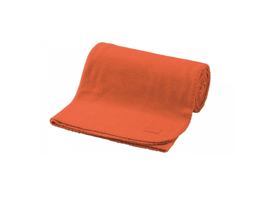 Easy Camp fleecová deka Fleece Blanket orange