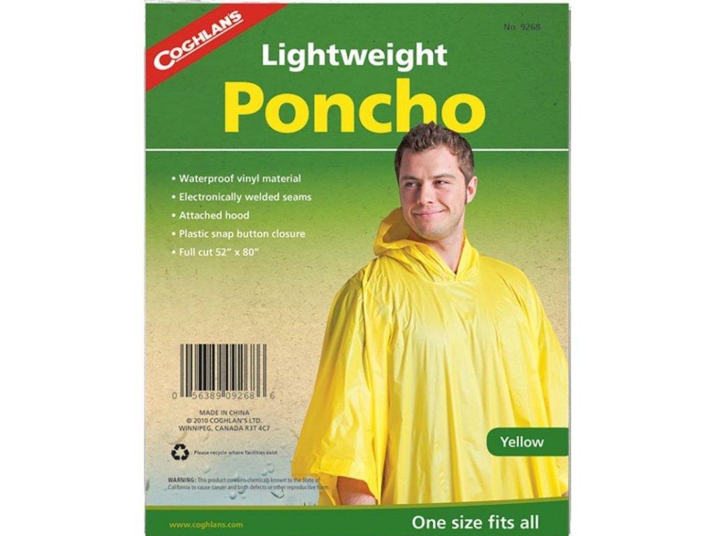 Coghlan´s pončo žluté Lightweight Poncho