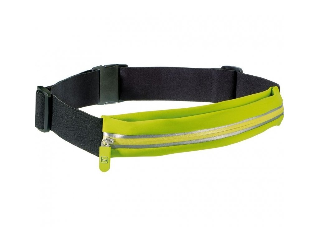 Go Travel opasek s kapsou Stretchy Belt Pouch lime