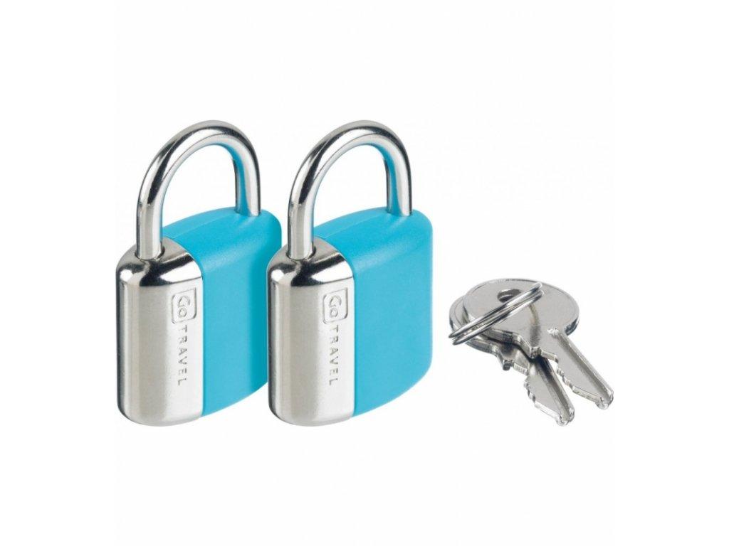 Go Travel sada zámků s klíčky Secure Lock blue