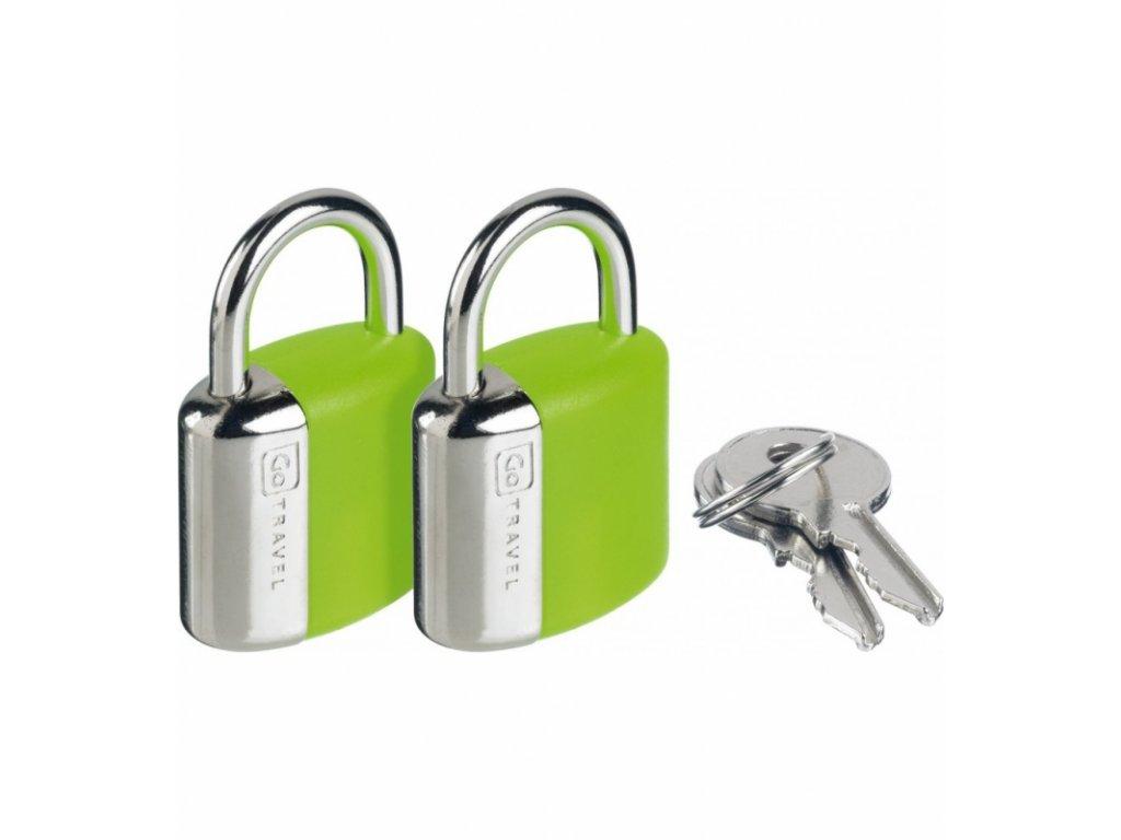Go Travel sada zámků s klíčky Secure Lock green