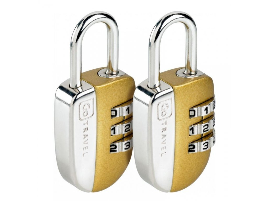 Go Travel sada zámků Secure Lock gold
