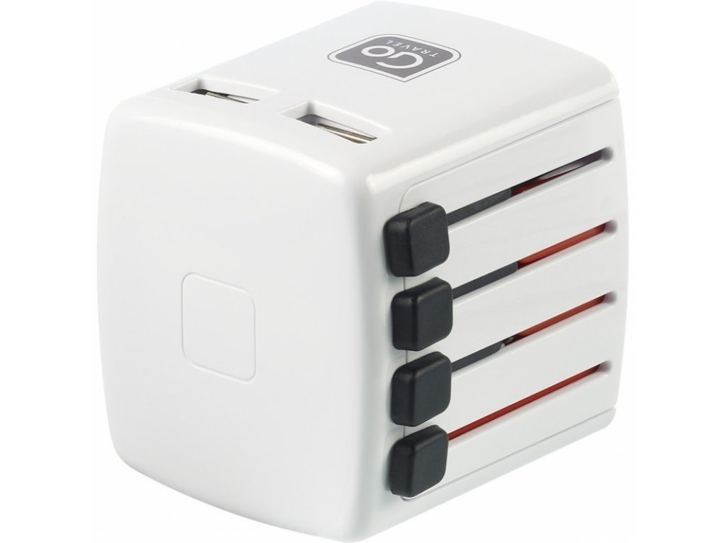 Go Travel simultánní USB nabíječka pro svět s USB porty