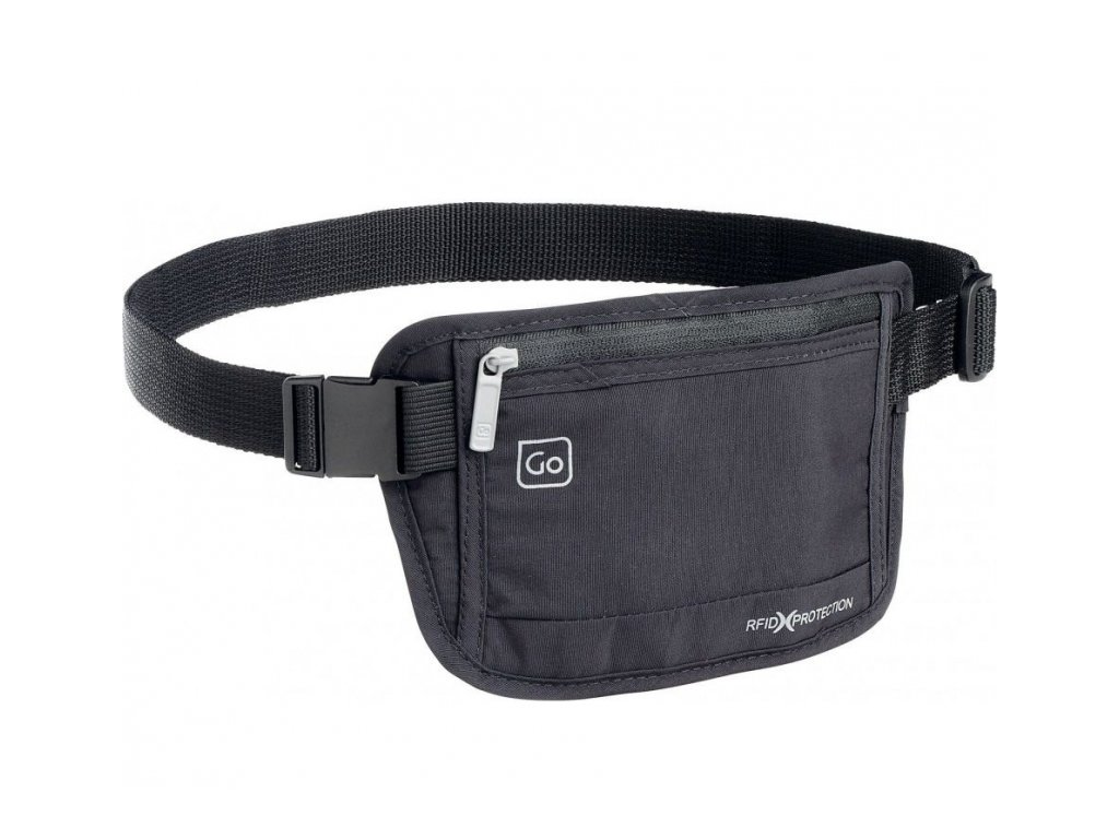 Go Travel skrytá ledvinka RFID Money Belt black