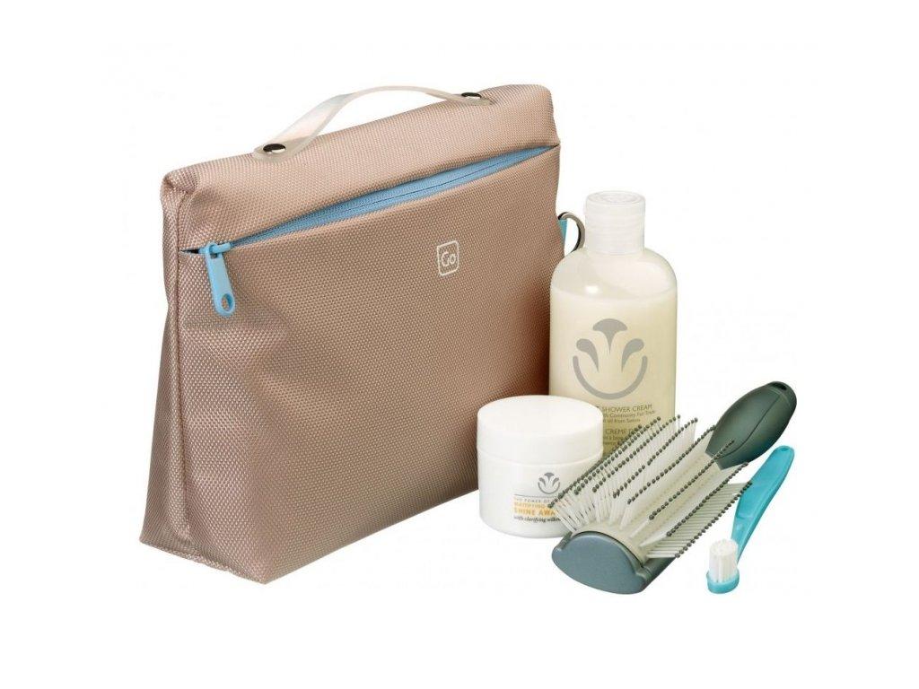 Go Travel toaletní taška Wash Bag tan