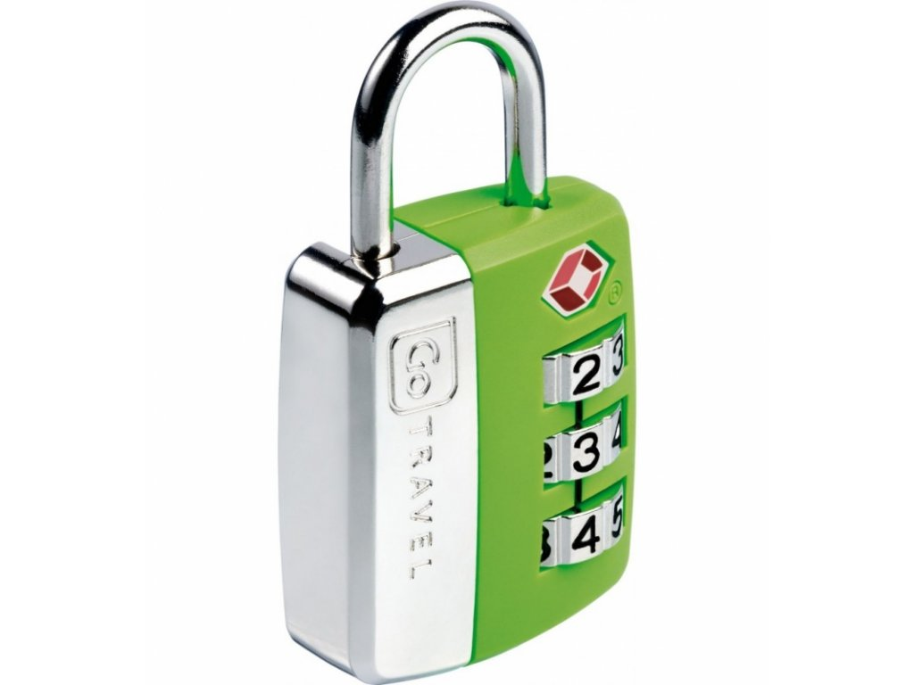 Go Travel zámek Big Wheel TSA Lock green