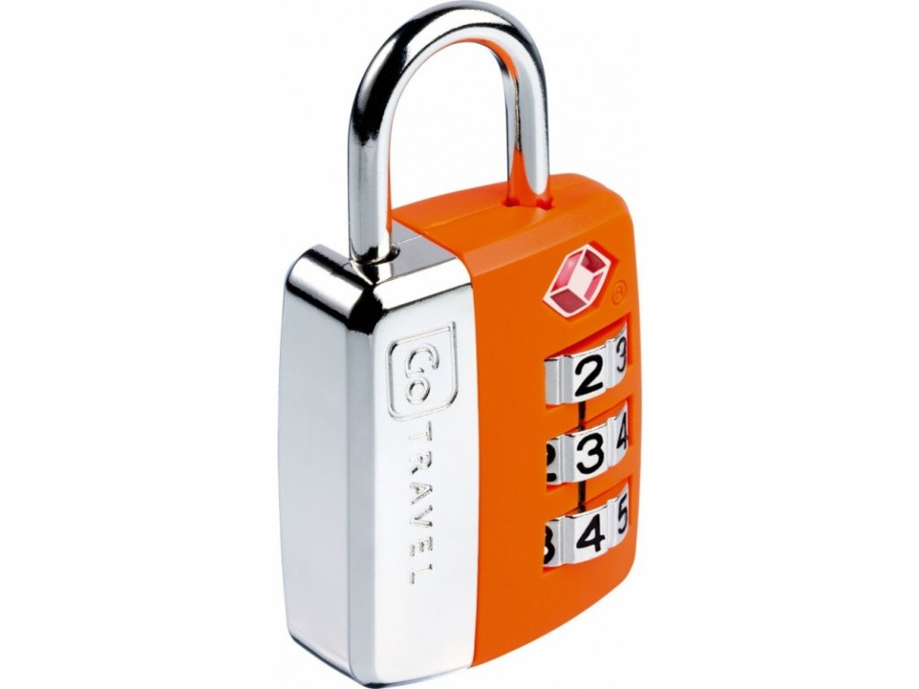 Go Travel zámek Big Wheel TSA Lock orange