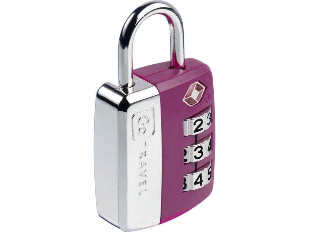 Go Travel zámek Big Wheel TSA Lock violet