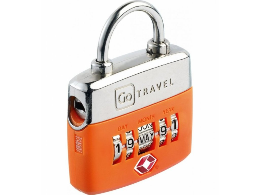 Go Travel zámek Birthday TSA Lock orange