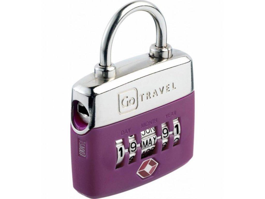 Go Travel zámek Birthday TSA Lock violet