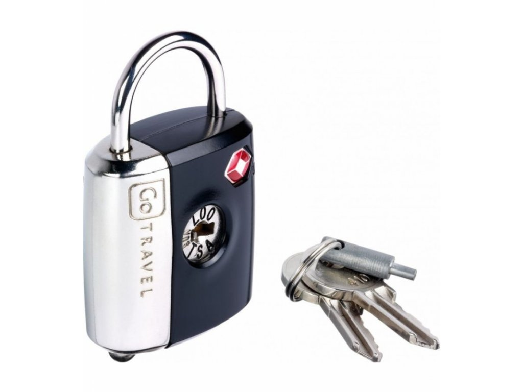 Go Travel zámek Dual Combi/Key TSA Lock black