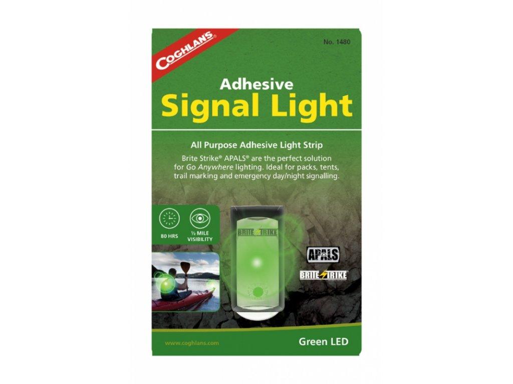 Coghlan´s signální světlo Adhesive Signal Light green