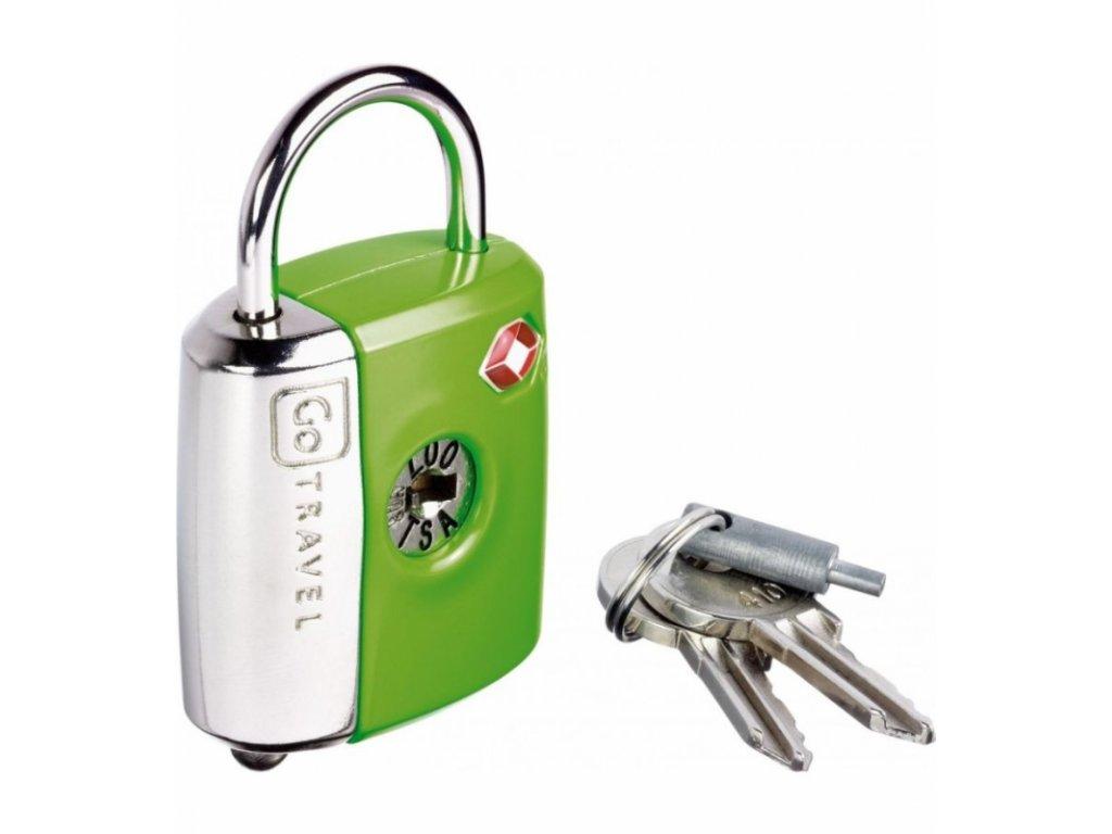Go Travel zámek Dual Combi/Key TSA Lock green