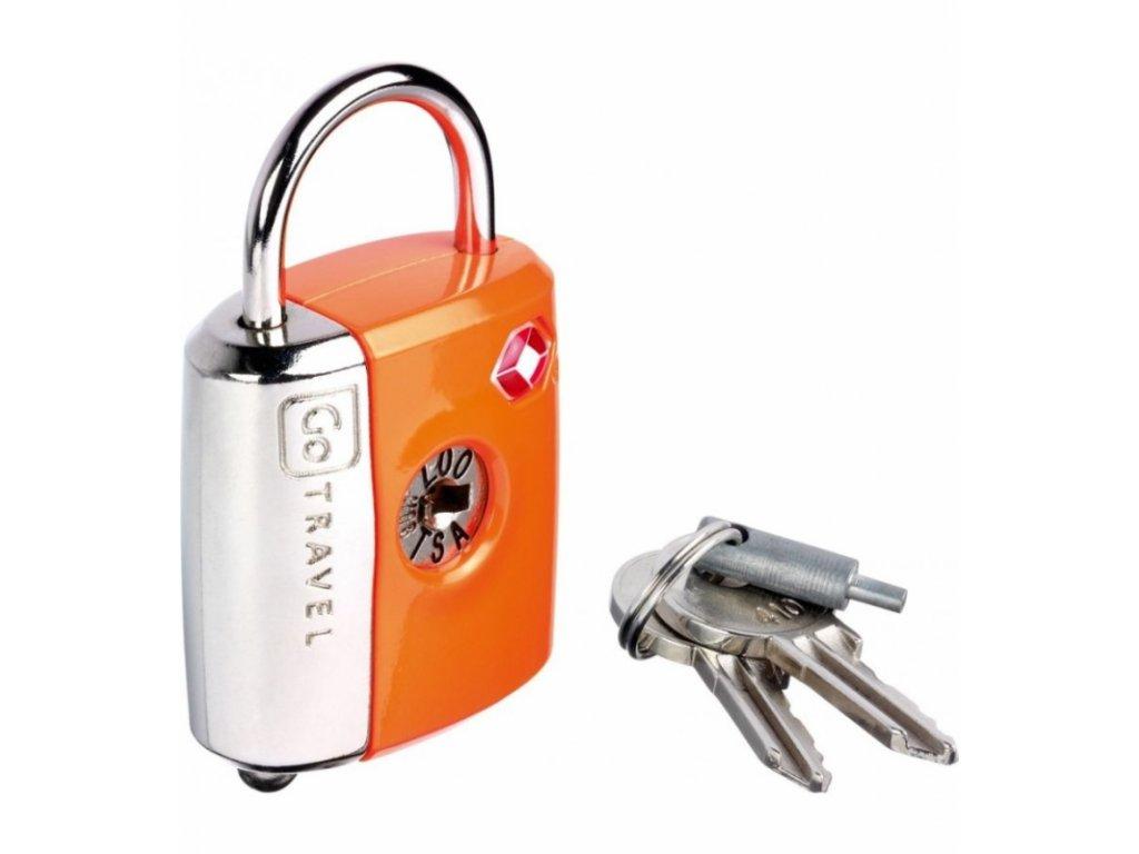 Go Travel zámek Dual Combi/Key TSA Lock orange