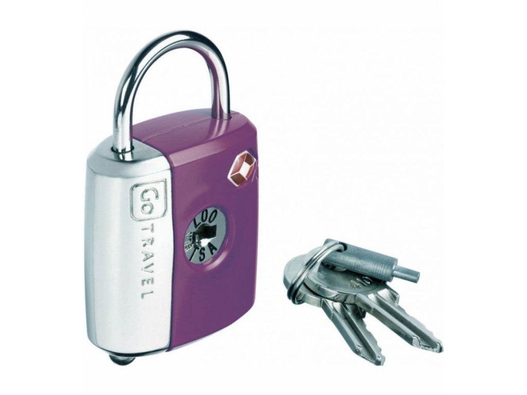 Go Travel zámek Dual Combi/Key TSA Lock violet