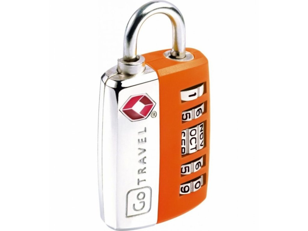 Go Travel zámek My Date TSA Lock orange