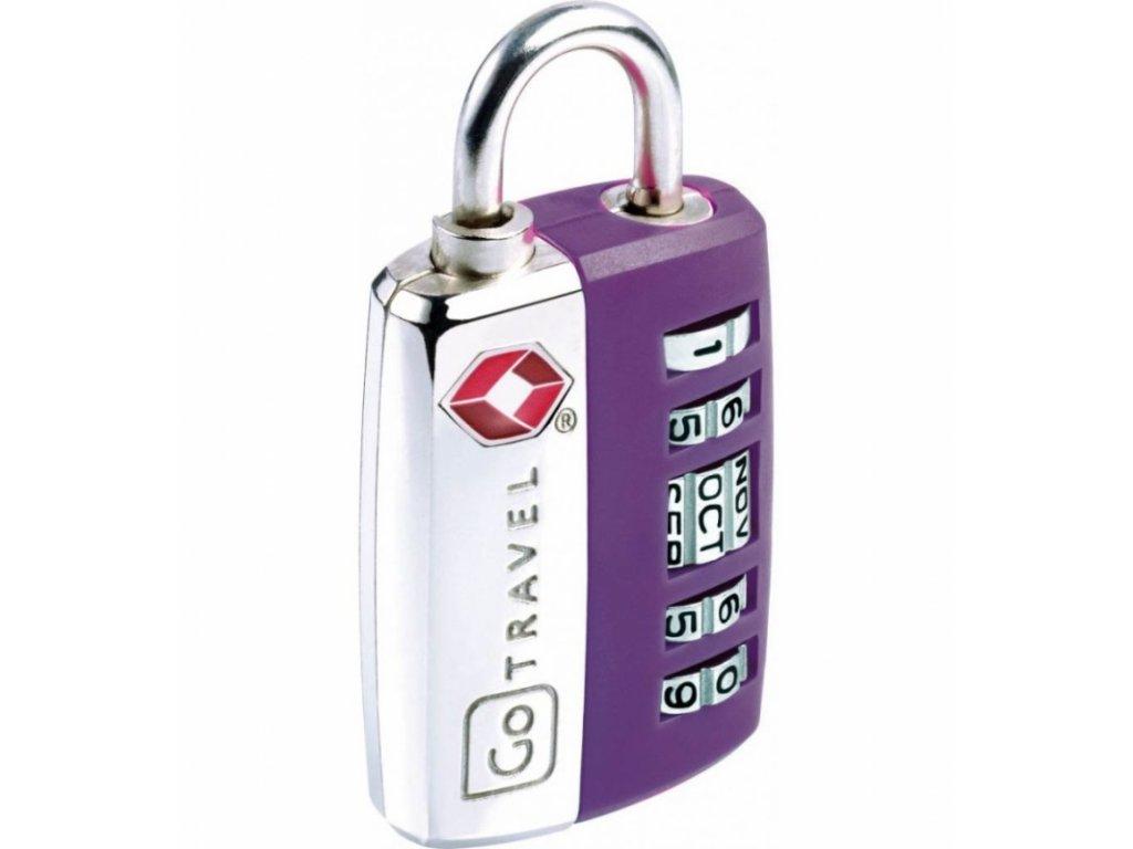 Go Travel zámek My Date TSA Lock violet
