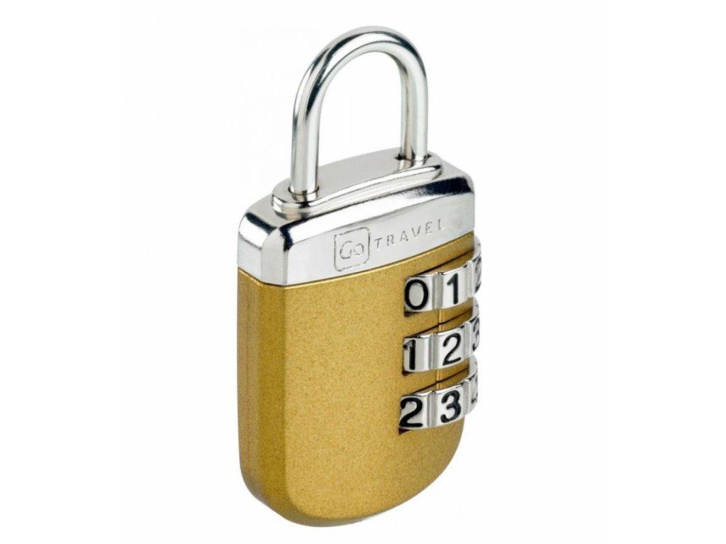 Go Travel zámek Secure Lock Big Wheel gold