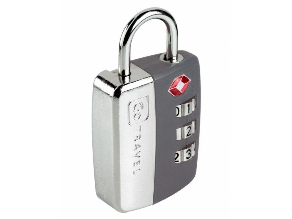 Go Travel zámek Secure Lock TSA grey