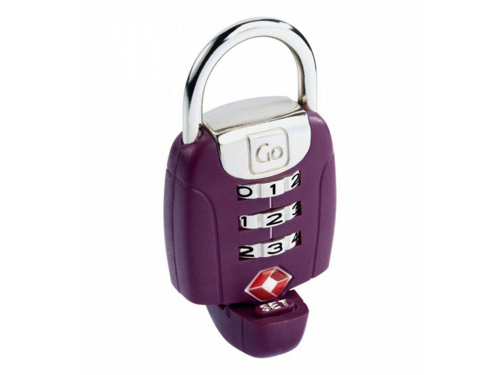 Go Travel zámek TSA Twist ´N´ Set Lock violet