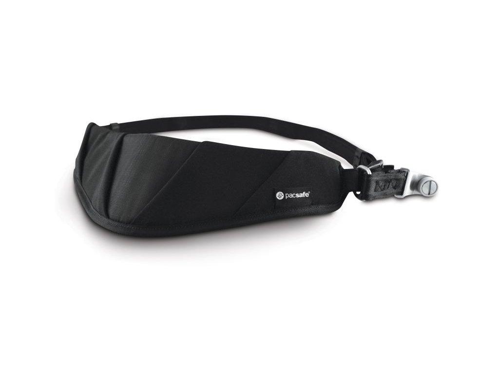 Pacsafe Carrysafe 150 black bezpečnostní popruh - výprodej