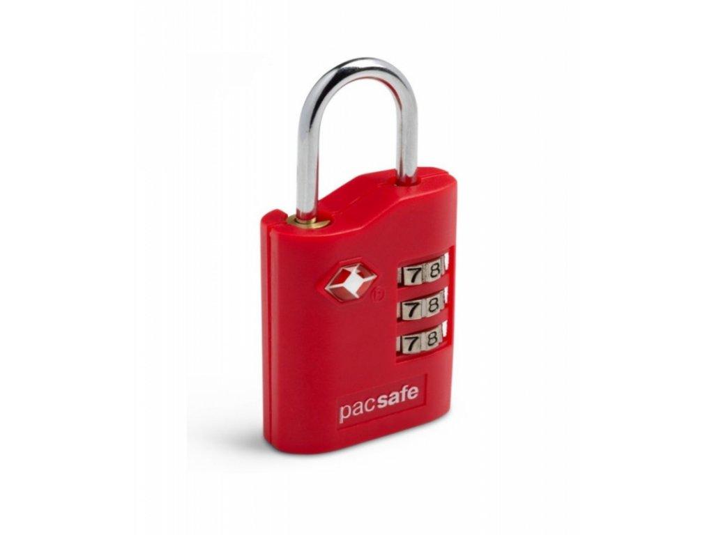 Pacsafe Prosafe 700 red kombinační zámek TSA - výprodej