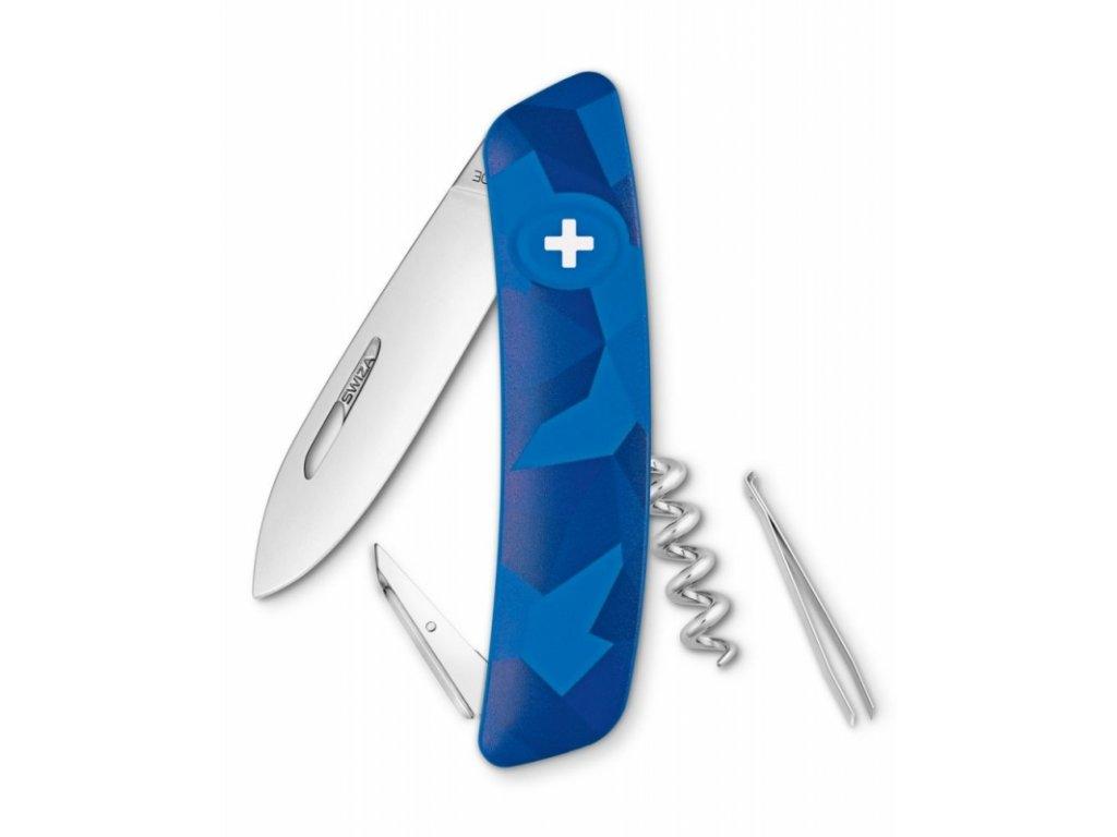 Swiza kapesní nůž D01 Standard Camo Livor blue