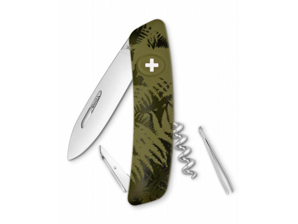 Swiza kapesní nůž D01 Standard Camo Silva olive