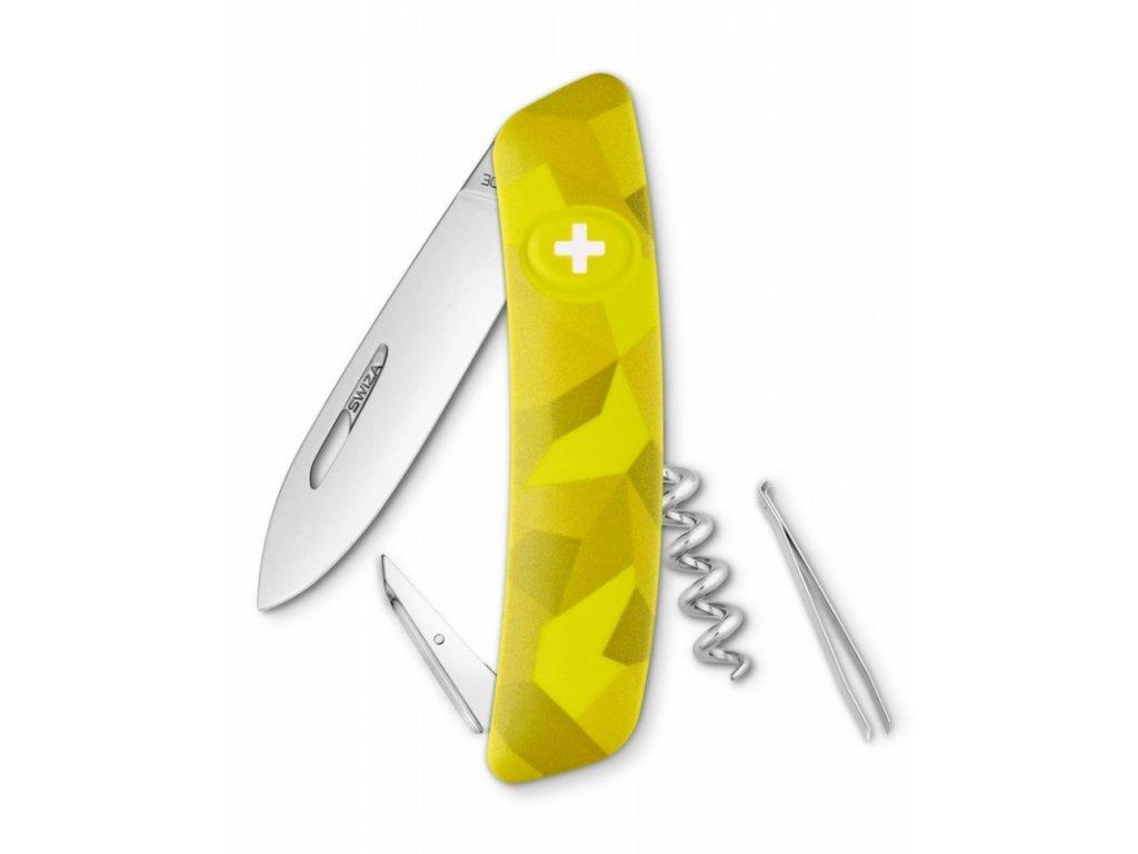 Swiza kapesní nůž D01 Standard Camo Velor moss