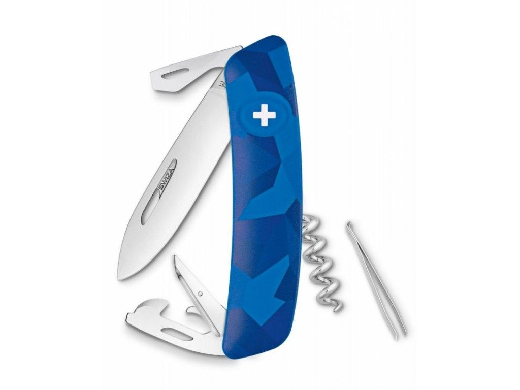Swiza kapesní nůž D03 Standard Camo Livor blue