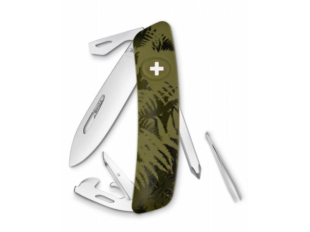 Swiza kapesní nůž D04 Standard Camo Silva olive