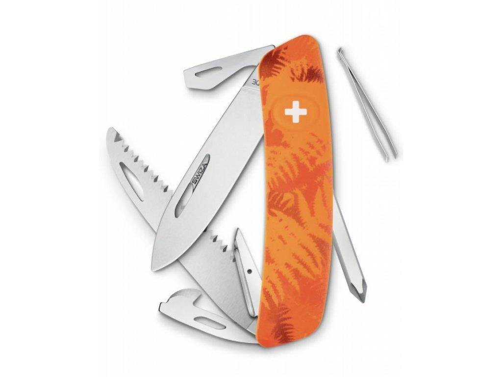 Swiza kapesní nůž D06 Standard Camo Filix orange
