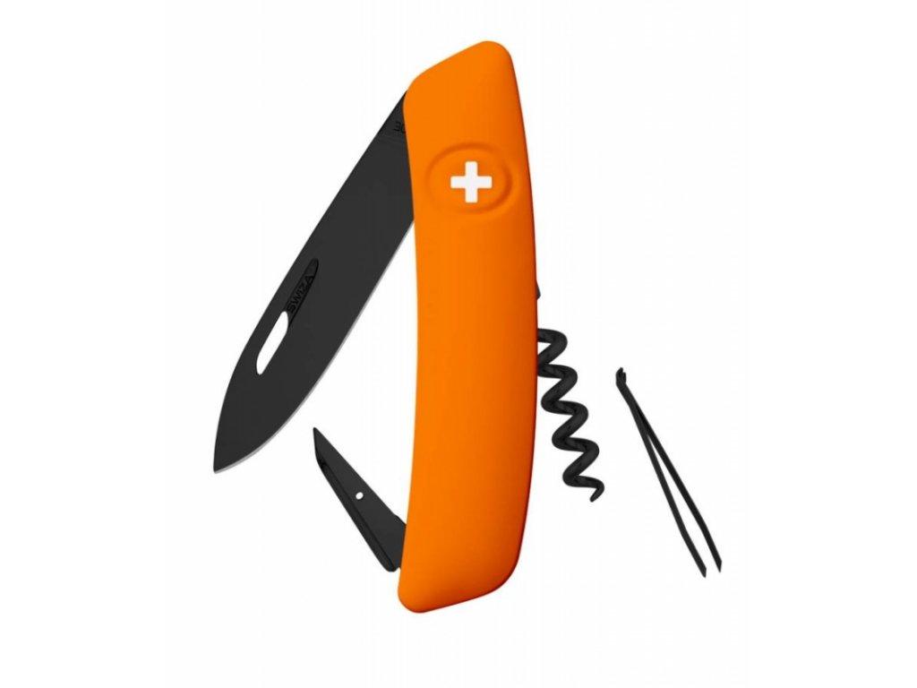Swiza kapesní nůž D01 Allblack Standard orange