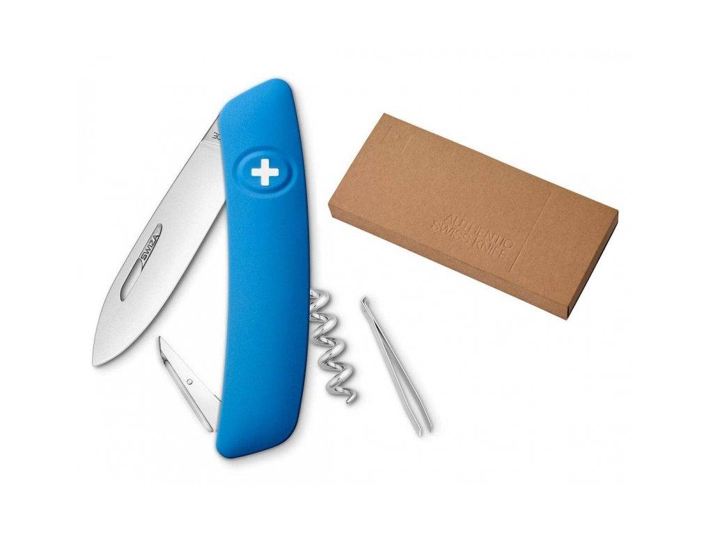 Swiza kapesní nůž D01 Standard blue dárkové balení
