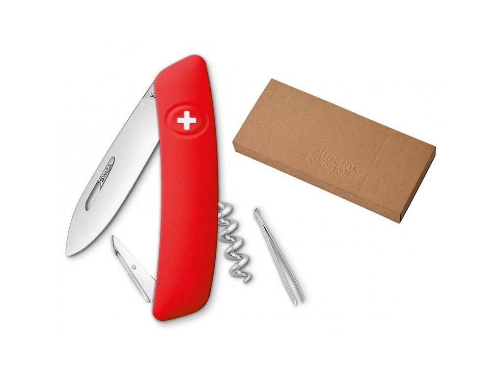 Swiza kapesní nůž D01 Standard red dárkové balení