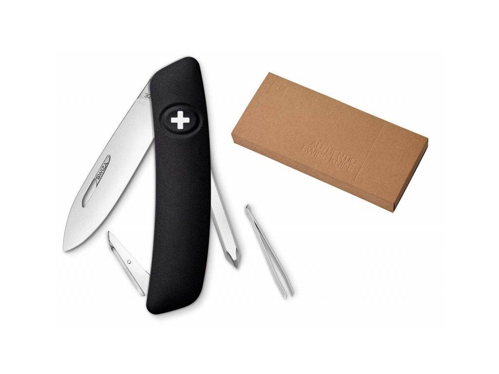Swiza kapesní nůž D02 Standard black dárkové balení