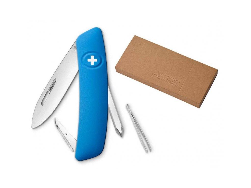 Swiza kapesní nůž D02 Standard blue dárkové balení