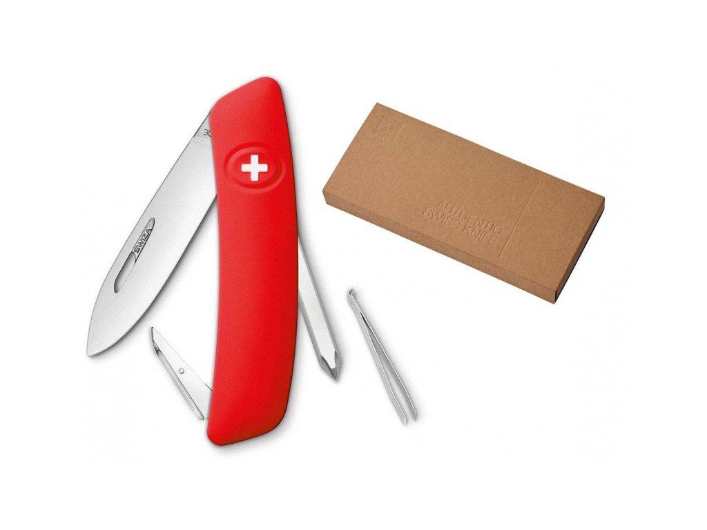 Swiza kapesní nůž D02 Standard red dárkové balení