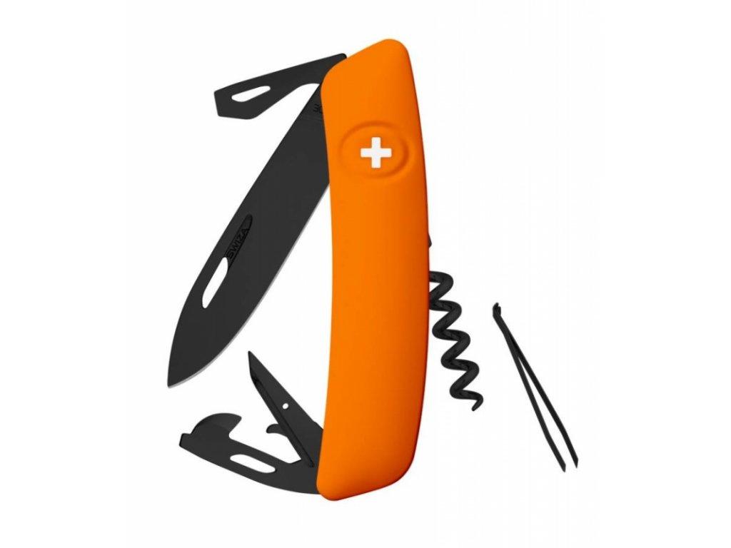Swiza kapesní nůž D03 Allblack Standard orange