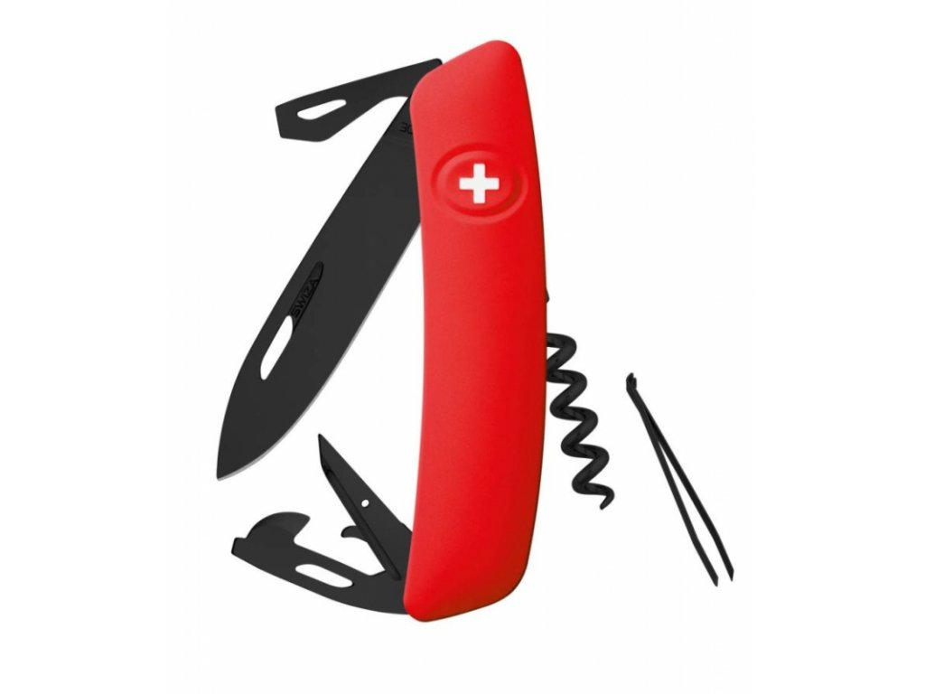 Swiza kapesní nůž D03 Allblack Standard red