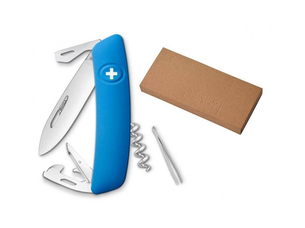 Swiza kapesní nůž D03 Standard blue dárkové balení
