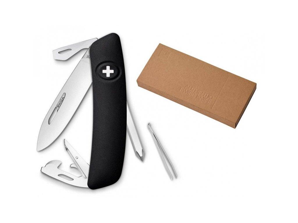 Swiza kapesní nůž D04 Standard black dárkové balení